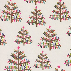 "Holiday Paper & Wrap - Small Glitter Trees 20""x27"" Sheet"
