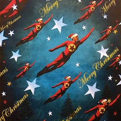 "Holiday Paper & Wrap - Merry Christmas! Superhero 19""x26"" Sheet"