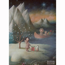 "Holiday Paper & Wrap - North Pole Adventure 20""x27"" Sheet"