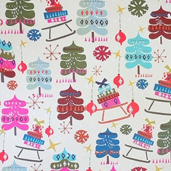 "Holiday Paper & Wrap - Trees & Gifts 20""x27"" Sheet"