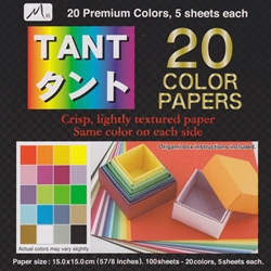TANT 20 Colors 5 Sheets of Each Color 5-7/8 Inch
