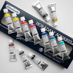 Schmincke Horadam Aquarell Set of 12 - 5ml Tubes in a Cardboard Box