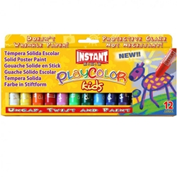 PlayColor Kids - 12 Standard Solid Poster Paints