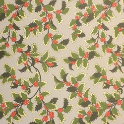 "ROSSI Holly Fine Art and Gift Wrap Paper 28""x40"" Sheet"