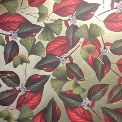 "ROSSI Gingko and Cornus Alba Fine Art and Gift Wrap Paper 28""x40"" Sheet"