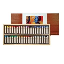 Sennelier Oil Pastel Wood Box Set of 50 Original Picasso Colors
