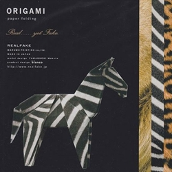RealFake Origami Paper Kit - Zebra, Leopard, and Lion