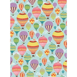 "Hot Air Balloons Paper - 19""x26"" Sheet"