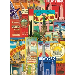 "Cavallini Papers from Italy - New York Postcards 20""x28"" Sheet"