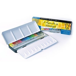 Sennelier Aquarelle Metal Set of 12 Half-Pans