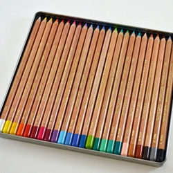 Gioconda Pastel Pencil Set of 24 Pencils in a Metal Tin