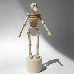 Lazy Bones Wood Skeleton Puppet
