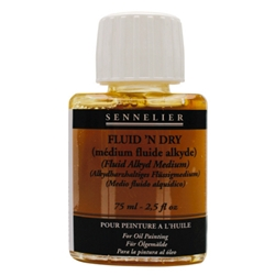 Sennelier Fluid'n Dry Fluid Alkyd Medium - 75ml Bottle