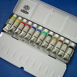 Schmincke Watercolor Set - 12 5mL Tubes in a Metal Box