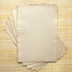 "Hemp Paper - 250 gsm 5.83x8.27"" Antique Natural Deckle (5 Sheet Pack)"