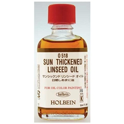Holbein Sun Thickened Linseed Oil - 55ml Bottle