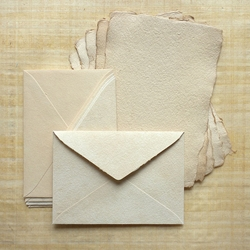 Hemp Paper Card Set - Antique (5 Cards & 5 Envelopes)