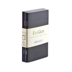 "EcoQua Staplebound Dot Cool Pocket Notebook Set of 4 - 3.5""x5.5"""