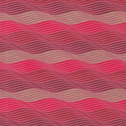 Printed Cotton Paper from India- Waves in Gold/Red/Pink on Red Paper 22x30 Inch Sheet