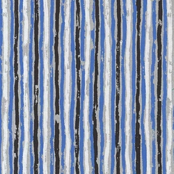"Printed Cotton Paper from India - Paint Stripes in Black/White/Blue on Gray Paper 22""x30"" Sheet"