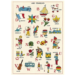 "Cavallini Decorative Paper - ABC Francais 20""x28"" Sheet"