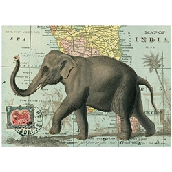 "Cavallini Decorative Paper - Elephant Print 20""x28"" Sheet"