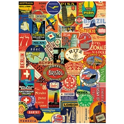 "Cavallini Decorative Paper - Bon Voyage 20""x28"" Sheet"