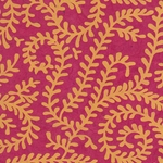 "Nepalese Printed Paper- Bright Swirling Vines Orange on Magenta Paper 20x30"" Sheet"