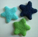 Felted Wool Stars by WooLaLa