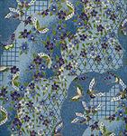 "Blue Butterflies and Flowers 1 Sheet 19""x25"""