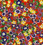 "Colorful Flowers on Red 5 Sheets 21""x31.5"""