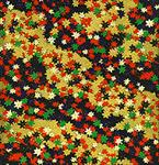 "Multicolor Leaves on Black and Gold 1 Sheet 19""x25"""