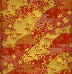 "Red and Gold Leaves, Flowers, and Waves 1 Sheet 19""x25"""