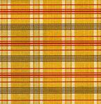 "Traditional Fabric Print (Yellow Plaid) 1 Sheet 25""x18.75"""