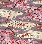"White and Red Cherry Blossom 1 Sheet 19""x25"""