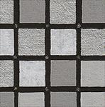 "Black, White, Grey, & Silver Squares 22""x30"" Sheet"