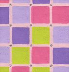 "Lavender, Pink, Green, & Purple Squares 22""x30"" Sheet"
