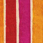 Red/Magenta/Orange Stripes - 20x30 inch sheet