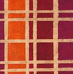 Red/Orange/Magenta Plaid - 20x30 inch sheet