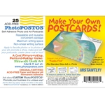 PhotoPOSTOS - Self Adhesive, Acid-Free Blank Postcards
