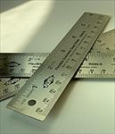 Stainless Steel Cork Backed Ruler