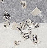 Confetti Music on White - 25x37 Inch Sheet