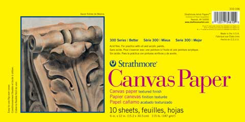 Strathmore 300 Series Canvas Paper Pads