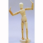 Art Alternatives 12 inch Wooden Male Manikin