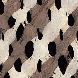 Amate Bark Paper- Lattice Chocolate/Natural 15.5 x 23.5 Inch Sheet