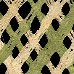 Amate Bark Paper- Lattice Green/Natural 15.5 x 23.5 Inch Sheet