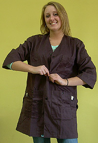 Art Smock - Eggplant (Dark Purple Color)