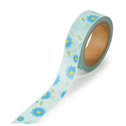 "Floral Yellow and Blue -  5/8""x315"" Roll"