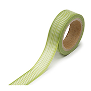 "Green Horizontal Stripe -  5/8""x315"" Roll"