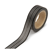 "Black Horizontal Stripe -  5/8""x315"" Roll"
